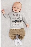 (K4)2014 new arrive car print boys autumn set t shirt+pants kids sport suit  set children clothing set baby boys wear lasogo