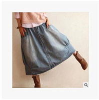 2014 Autumn Colored Female Skirts Denim Skirt Package Hip Denim Skirt Summer Fashion High Quality Free Shipping