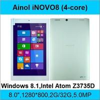Ainol INOVO8 1.33-1.86GHz CPU Intel Z3735D Atom Quad Core Windows 8.1 tablet pc 8'' 1280*800 IPS 10 points 2GB RAM 32GB HDMI OTG