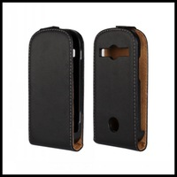 Vertical Flip Up and Down Leather Case for Samsung Galaxy Xcover 2 S7710 Black