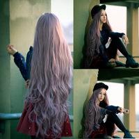 Salon Beauty NEWWomens Lady Long Curly Wavy Hair Full Wigs Cosplay Party Anime Lolita Wig 100cm