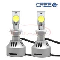 2 x H7 CREE MTG 72W 6400LM 6500K Xenon White  Kit Car LED Headlight Daytime Bulb Lamp
