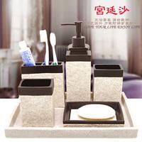 Five pieces set of bathroom fashion bathroom set kit brief bathroom supplies pallet belt