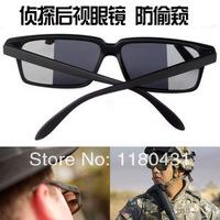 2014 U.S. Men Sunglasses Rearview glasses Sun Glasses Military Detective Sunglasses with mirror oculos de sol free shipping