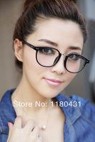 2014 new hot women men Rivet cool decoration glasses round frame myopia frame Plain glass high quality oculos Gafas de sol