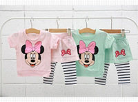NEW baby girls children clothing sets girls spring clothes short-sleeved +pant sets kids clothes sets
