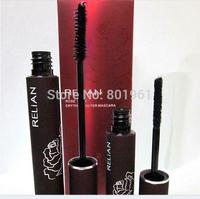 New !!  RELIAN Waterproof Mascara Curling Thick Lengthening Natural Blacks Mascara 1set=2pcs 48set / lot  Free shipping