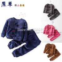 2014 autumn fashion baby's set  infant clothing baby girls leisure suit free shipping