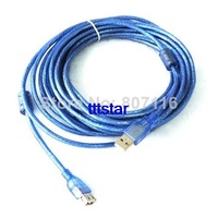 USB 2.0 extension cable Male to Female Extenison A/M to A/F Cable 10M blue with 2 ferrit cores,double shielded 30ft SK530