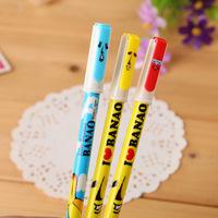 20pcs/lot Creative Korea Stationery Cute Cartoon Gel Ink Pen 0.5mm Blue Ink School Office Supplies Wholesale
