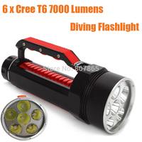 7000 Lumens 6xCree T6  Waterproof Diving  Flashlight 6T6 Handlamp Torch  Magic Control FREE Shipping