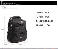 HIGH QUALITY Men Laptop Backpack Swiss Gear Nylon Zipper Fashion notebook bag women hiking travel backpack student school bag