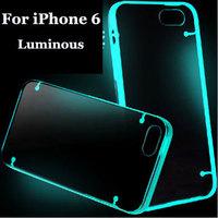 "10pcs/lot Light Glow in the Dark Night Luminous Transparent case cover for iPhone 6 4.7"""