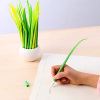 15pcs/lot Creative Stationery Tiny Green Grass Gel Ink Pen School Office Supplies Wholesale