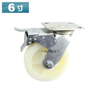 6Inch Super heavy duty caster ,double bearing  wheels with brake,Load Capacity 400KG per pcs