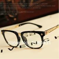 2014 hot sale brand metal+pc  glasses big frame myopia frame women men Plain glass spectacles oculos Gafas de sol good quanlity