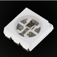 WS2822S;5050 SMD RGB LED with built-in WS2821A chipset;signal wire in parellelconnection intelligent control 5050 LED