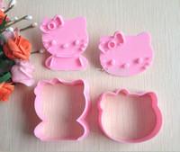 2 pcs/set Hello Kitty Shape Mold (DIY Tool for bake)