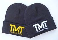 3D logo  TMT  the money team beanies sports hats men & women's sports skullies beanie caps black  grey  freeshipping !