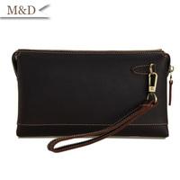 Top Quality Genuine Leather Men Clutch Wallet Clutch Bag Money Purse