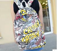 HOT-selling Free shipping School Bag Backpack Cartoons graffiti school backpack