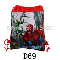 1 piece Spider-Man Children School Bag Kids Printing Cartoon Backpacks Drawstring Bag Shoulder Bag For Kids Gift kids school bag