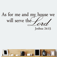 wholesale As for me and my house, we will serve the Lord Vinyl wall art Inspirational quotes saying home decor decal sticker