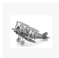 Real 3 d puzzles DIY nano metal micro three-dimensional sculpture is the Eiffel Tower, the ferris wheel Fokker aircraft