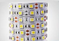 60 leds/m 5050 LED strip 5050 12V flexible light ,5m/lot Warm White,White,Blue,Green,Red,Yellow,RGB