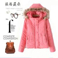 2014 PASI Mel TS ladies padded coat short slim women's coat fur collar coat