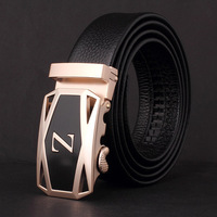 New 2014 Men's Cowskin Leather Belt , Designers Brand 100% Genuine leather Free Shipping