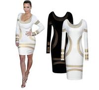 [B-599]  2014 summer new European style sexy backless burst models Slim long-sleeved dress