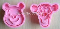 2 pcs/set 1 Winnie the Pooh and 1 Tigger Shape Mold ( DIY Tool for bake)
