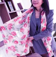 Oumeina DZ fashion accessory woman scarf:VOILE FABRIC Floral pattern muslim woman hijab scarf wrap shawl tudung bawal   DZ016