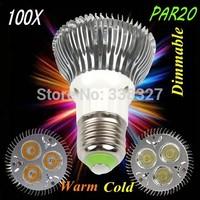 100pcs/lot 3 * 3 w par20  E27 / GU10  led lamp high-power par20 light cup 3 * 3 w led bulbs AC 110-245V Free Shipping