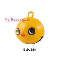 Free Shipping Wholesale Enamel Bird Cartoon Copper Bell Charms 18.5x18.5x15.5mm