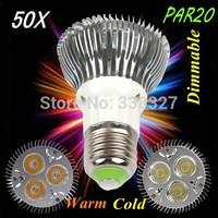 50pcs/lot 3 * 3 w par20  E27 / GU10  led lamp high-power par20 light cup 3 * 3 w led bulbs AC 110-245V Free Shipping