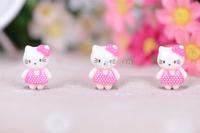 Free Shipping  50PCS/Lots Very Hot and Kawaii  Resin KT cat cabochons FOY DIY 23*16mm