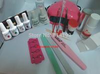 free shipping jingting led gel polish Starter Kit Full Kit for DIY Nail Art Design Including led UV Lamp nail gel set Tools kit