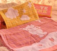 Wholesale 2PCS Winnie the Pooh cartoon double gauze cotton towel washcloth couple 34*76cm