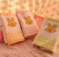 Wholesale 3PCS family Radish Rabbit double gauze cotton towel towel towel cartoon 34*76cm