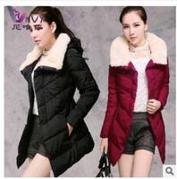 Winter coat women fur collar casual plus size jaquetas femininas 2014 long desigual cardigans clothing autumn jacket women W241