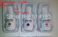 Choose 3PCS from jinting 2014 Summer UV Gel Nail Polish 203 Colors 3 in 1 Nail Polish Long Lasting Free Shipping