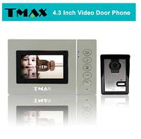 "TMAX 4.3"" LCD Video Door Phone Doorbell Home Entry Intercom with 500TVL Night Vision Camera"