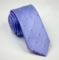 Purple Color Neckties with Cartoon Dogs Lovely Student Neck Ties Fashion Young Men& College students' tie Mircofiber Material