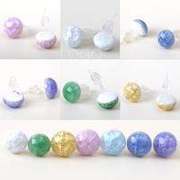 Simple Fashion Crackle Glaze Ceramic Earrings Ear Studs Women Craft Jewelry