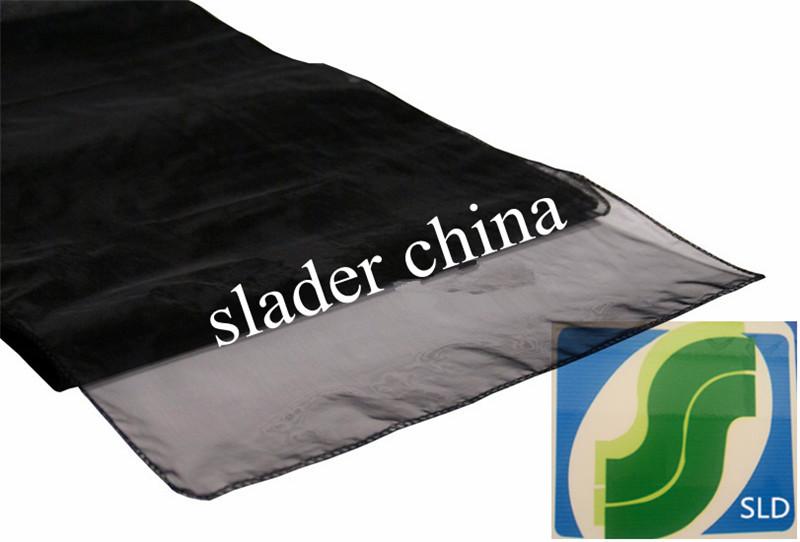 12 Organza black Table Runner for weddings(China (Mainland))