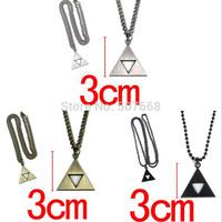 180pcs/lot Anime The Legend of Zelda the Triforce Zelda Triforce Necklace Metal Figure high quality Pendant Necklace
