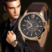Fashion Men Quartz Watches Men Curren Luxury Brand Leather Strap Date Calendar Men Dress Wristwatch Men Casual Clock Hours