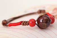 Bracelet Chinese Style Ceramic Buddhist Prayer Bead Bracelet  Wrist Jewelry